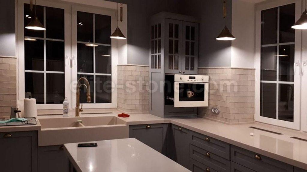 Столешница и остров для кухни из искусственного камня Staron - фото 2