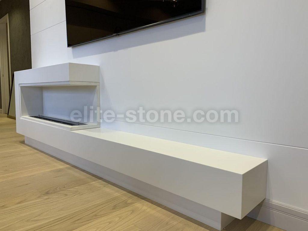 Стена и полка для камина из искусственного камня Staron SQ-019 - фото 3