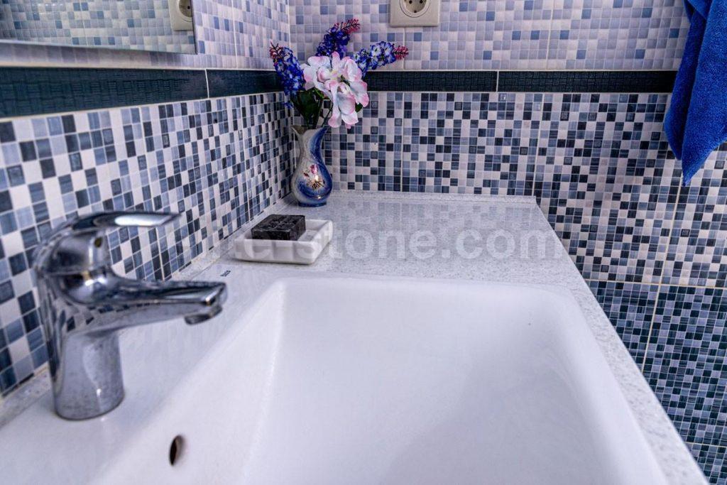 Столешница из искусственного камня Grandex в ванную комнату - фото 3