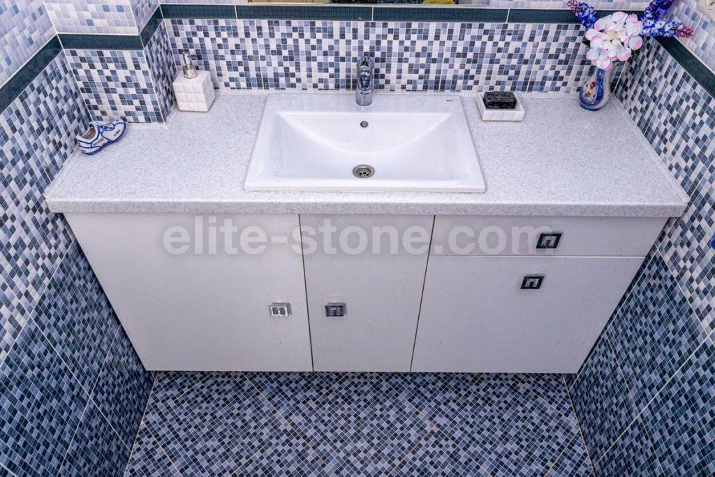 Столешница из искусственного камня Grandex в ванную комнату - фото 4