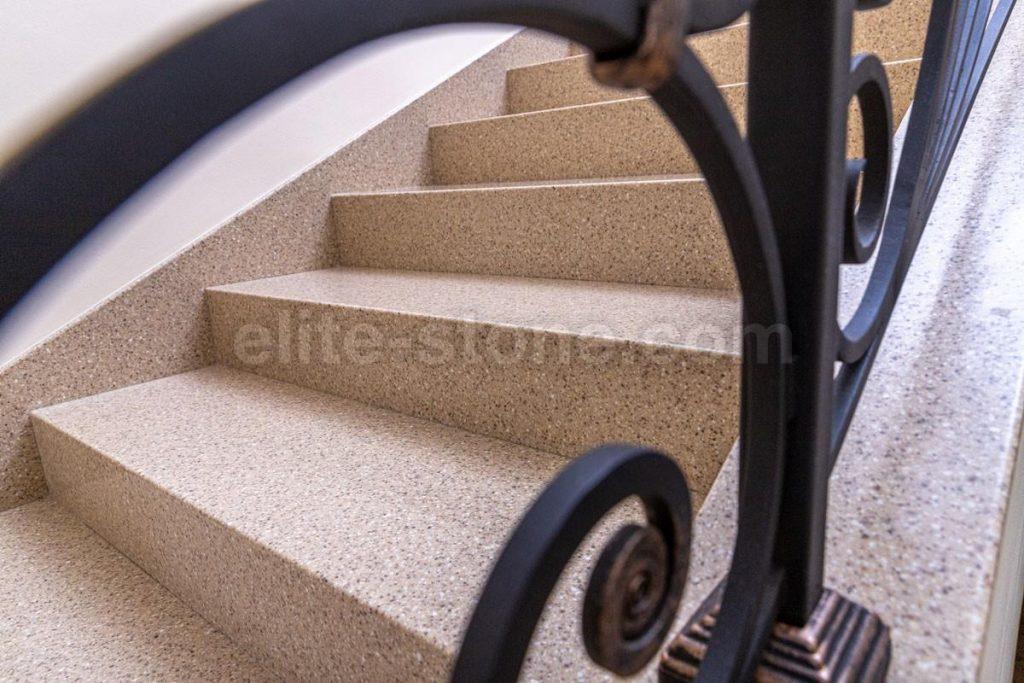 Лестница из искусственного камня п. Рассказовка - фото 6