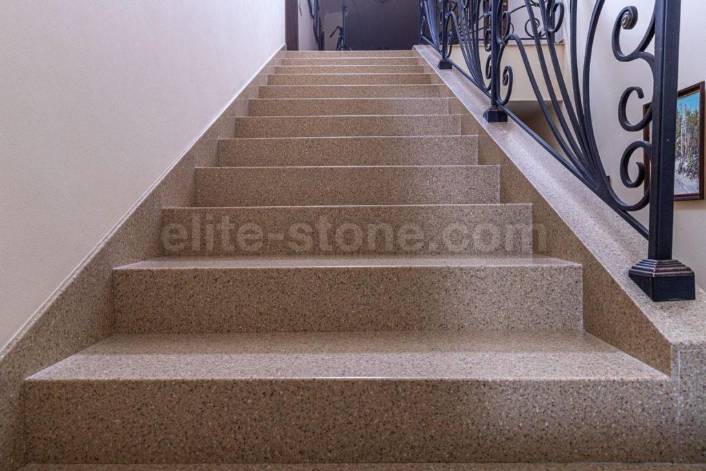 Лестница из искусственного камня п. Рассказовка - фото 4