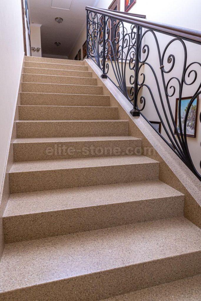 Лестница из искусственного камня п. Рассказовка - фото 1