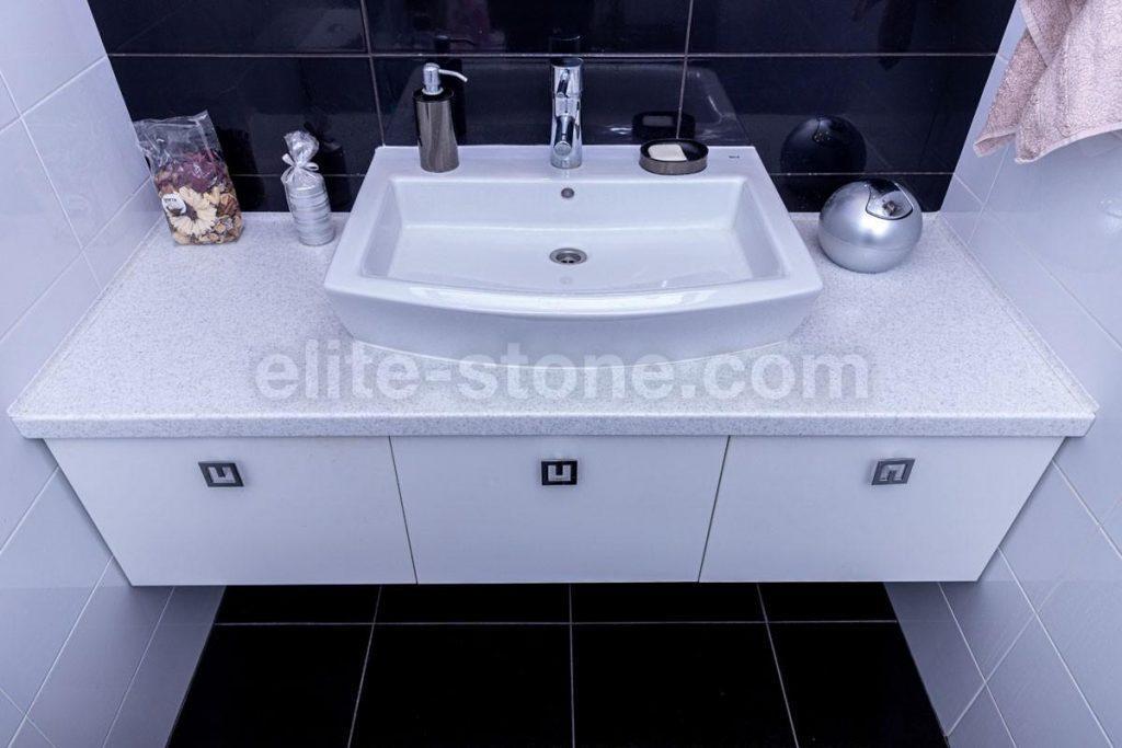 Столешница в ванную комнату из искусственного камня - фото 1