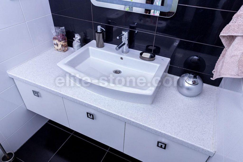 Столешница в ванную комнату из искусственного камня - фото 2