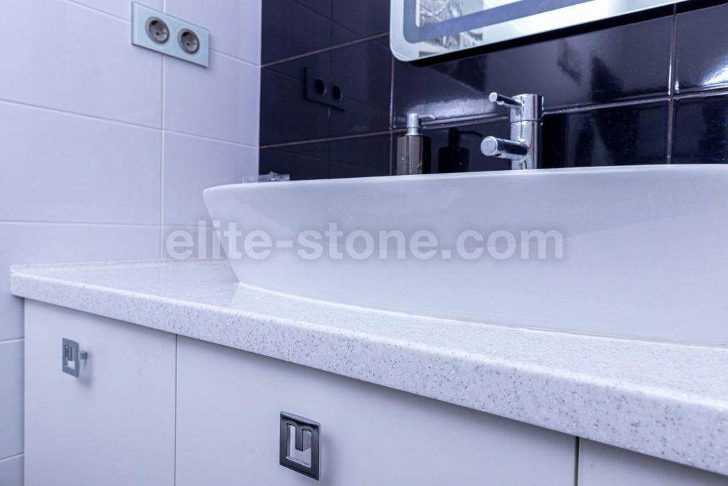 Столешница в ванную комнату из искусственного камня - фото 3