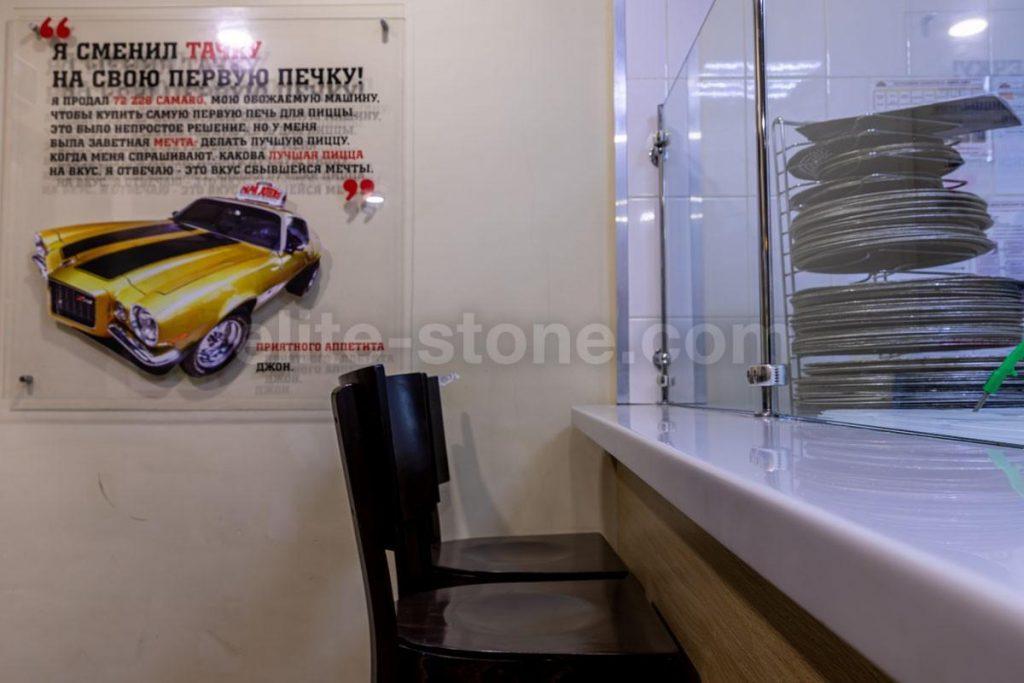 Каунтер из искусственного камня для пиццерии Папа Джонс - фото 7