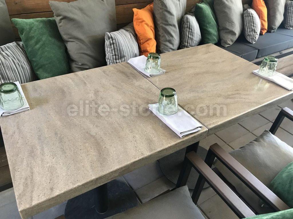 Столы из искусственного камня для ресторана Grill&Garden - фото 2