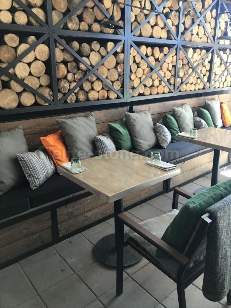 Столы из искусственного камня для ресторана Grill&Garden - фото 3
