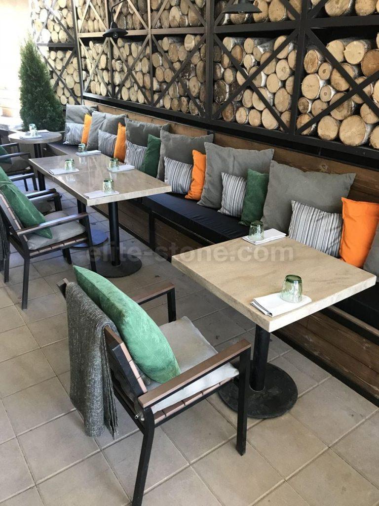 Столы из искусственного камня для ресторана Grill&Garden - фото 4