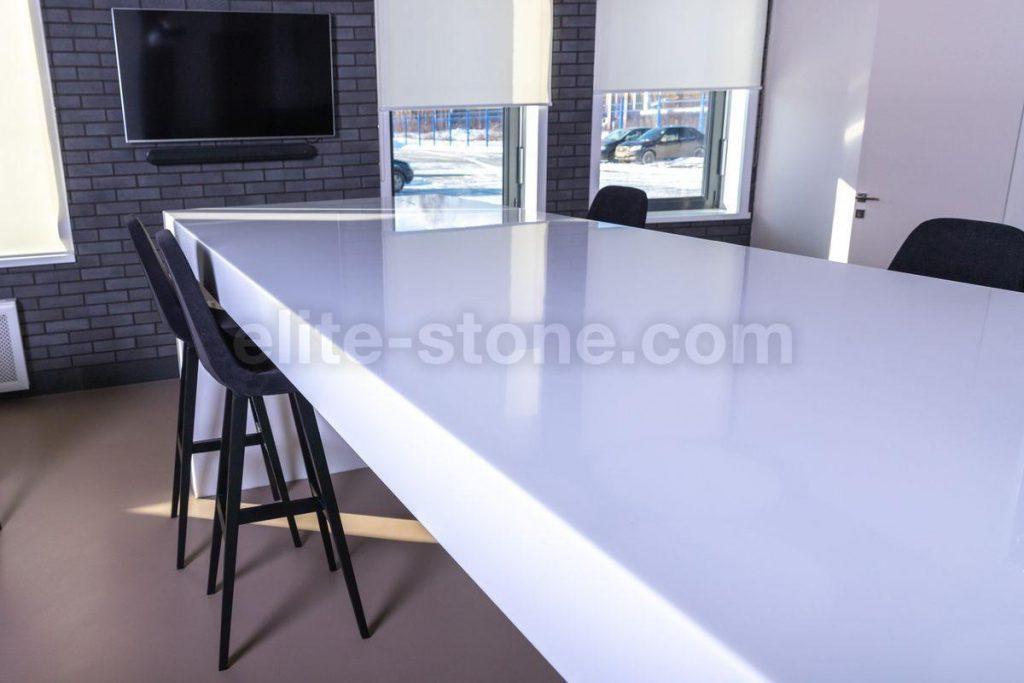 Стол из искусственного камня TriStone А – 104 Pure White - фото 9