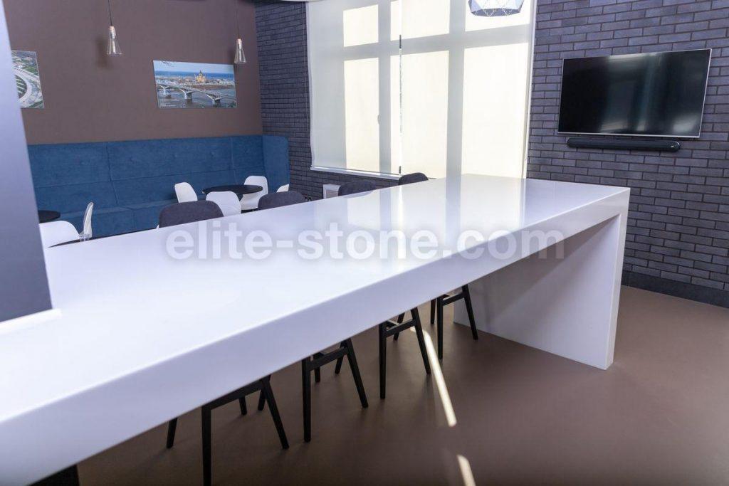 Стол из искусственного камня TriStone А – 104 Pure White - фото 8