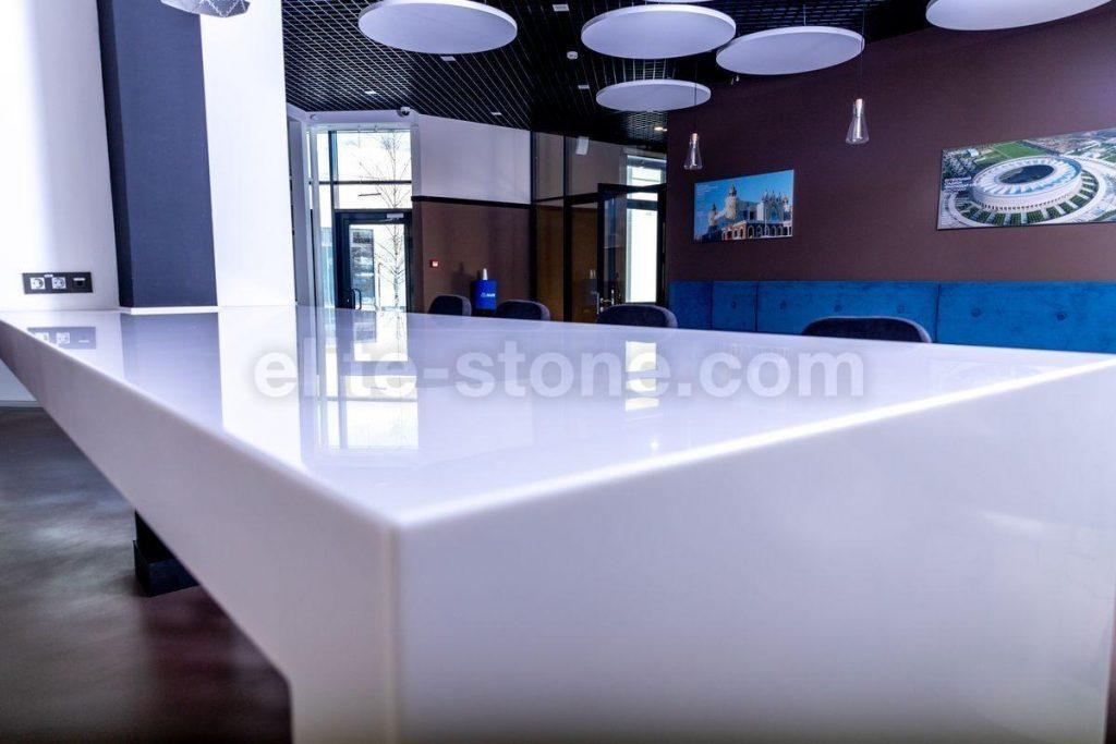 Стол из искусственного камня TriStone А – 104 Pure White - фото 2
