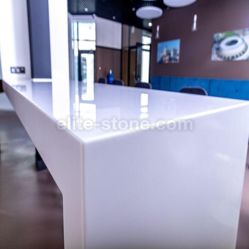 Стол из искусственного камня TriStone А – 104 Pure White - фото 7