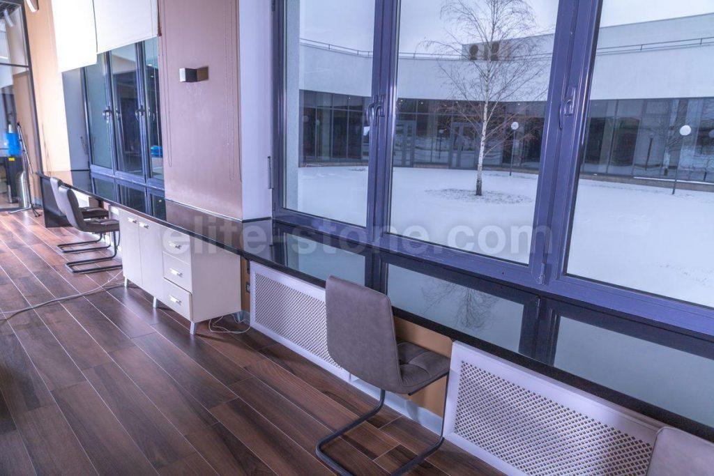 Стол-подоконник из искусственного камня Hi Macs S - 022 Black - фото 4