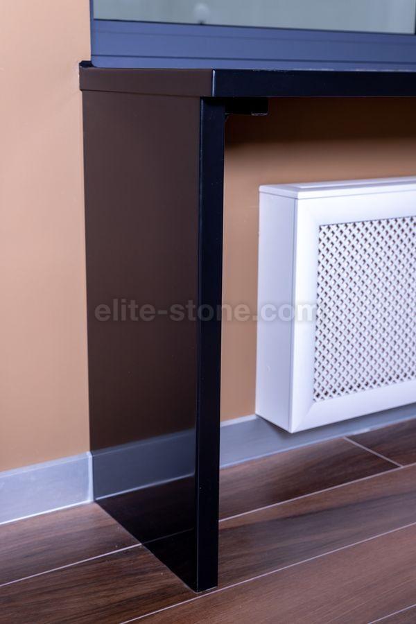 Стол-подоконник из искусственного камня Hi Macs S - 022 Black - фото 3