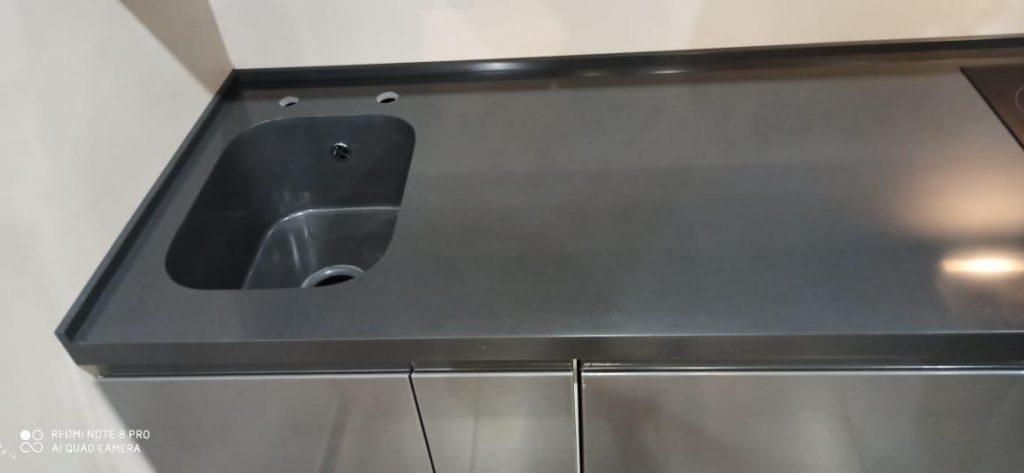 Столешница с интегрированной мойкой из искусственного камня Grandex S-215 - фото 2