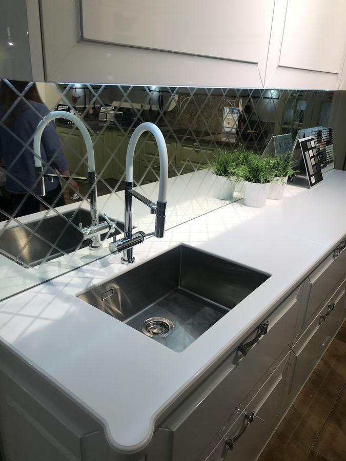 Столешница для кухни из искусственного камня Staron EY510 Metallic Yukon - фото 4