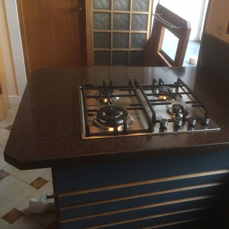 Столешница для кухни из искусственного камня GRANDEX A-418 Oak Wood - фото 4