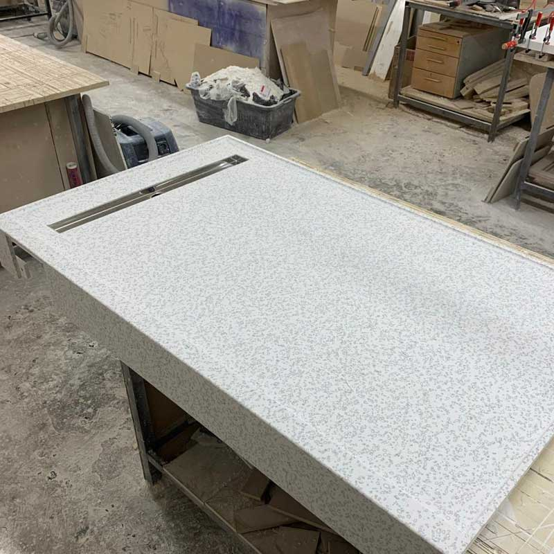Душевой поддон из искусственного камня Staron QD212 Mosaic Dalmatian - фото 13