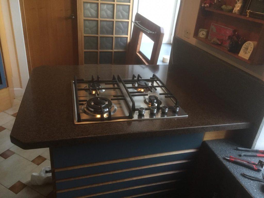 Столешница для кухни из искусственного камня GRANDEX A-418 Oak Wood - фото 3