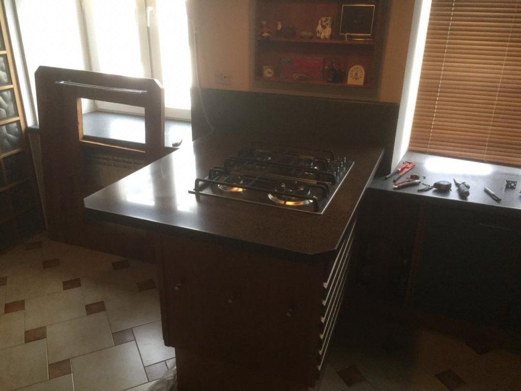 Столешница для кухни из искусственного камня GRANDEX A-418 Oak Wood - фото 1