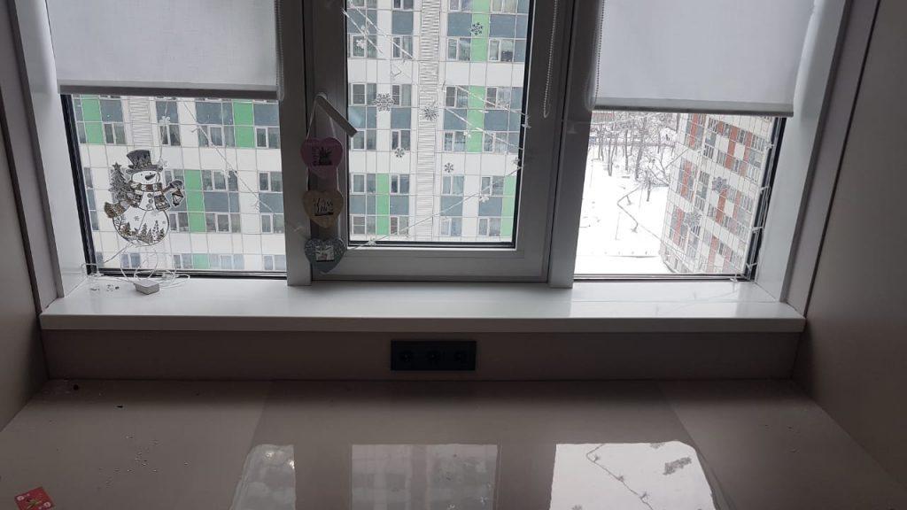 Подоконники из искусственного камня LG HI-MACS S028 Alpine White - фото 1
