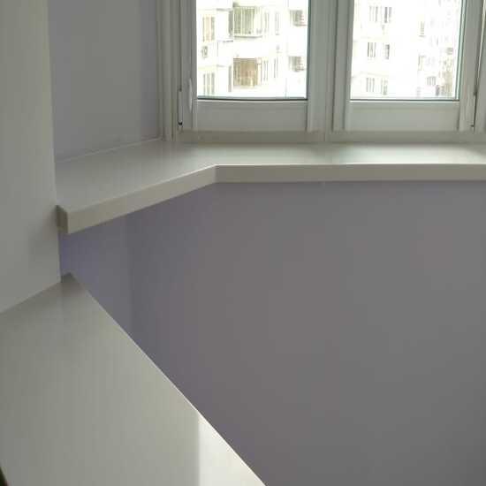 Белые фигурные подоконники из акрилового камня TriStone - фото 5