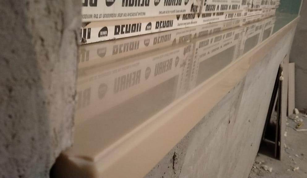 Бежевые подоконники (3 шт.) из искусственного камня Staron EB545 Metalic Beach - фото 4