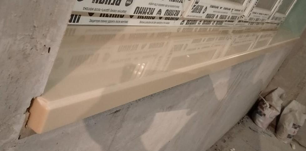 Бежевые подоконники (3 шт.) из искусственного камня Staron EB545 Metalic Beach - фото 9