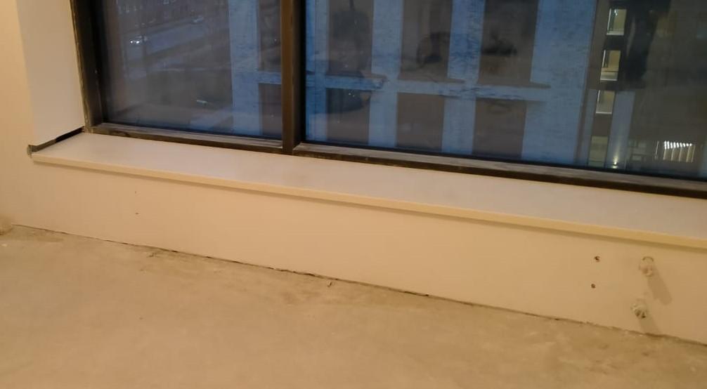 Бежевые подоконники из искусственного камня Staron SM421 Sanded Cream (2 шт.) - фото 2