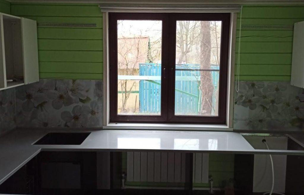 Кухонная Г-образная столешница из искусственного камня Tristone - фото 5