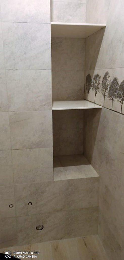 3 порога и 2 полки для ванной из искусственного камня Grandex - фото 4