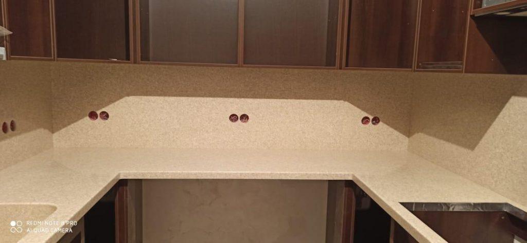 Столешница и стеновая панель из искусственного камня Grandex A-405 Peach Fruit - фото 2