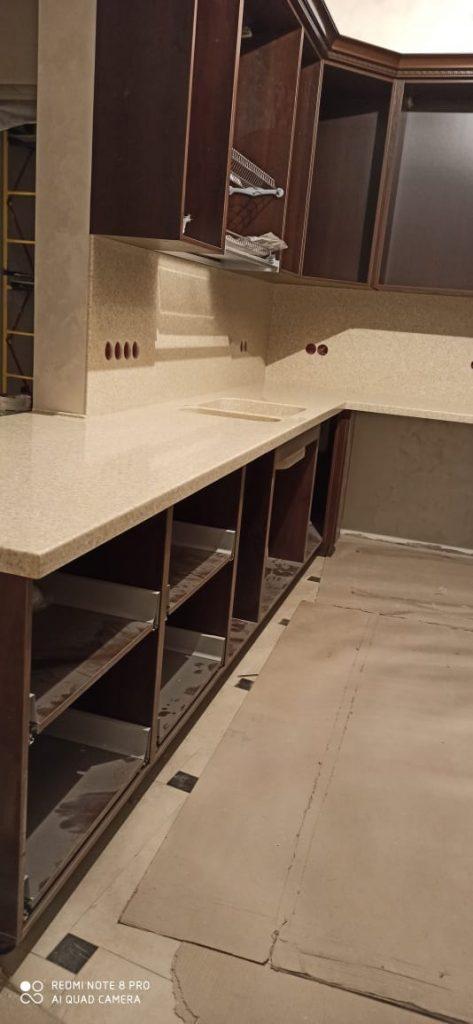 Столешница и стеновая панель из искусственного камня Grandex A-405 Peach Fruit - фото 8