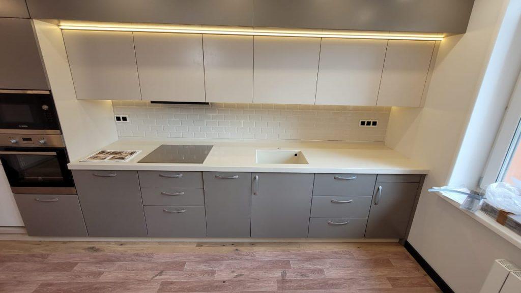 Столешница для кухни с интегрированной мойкой из искусственного камня Grandex P-102 Pure Beige - фото 3